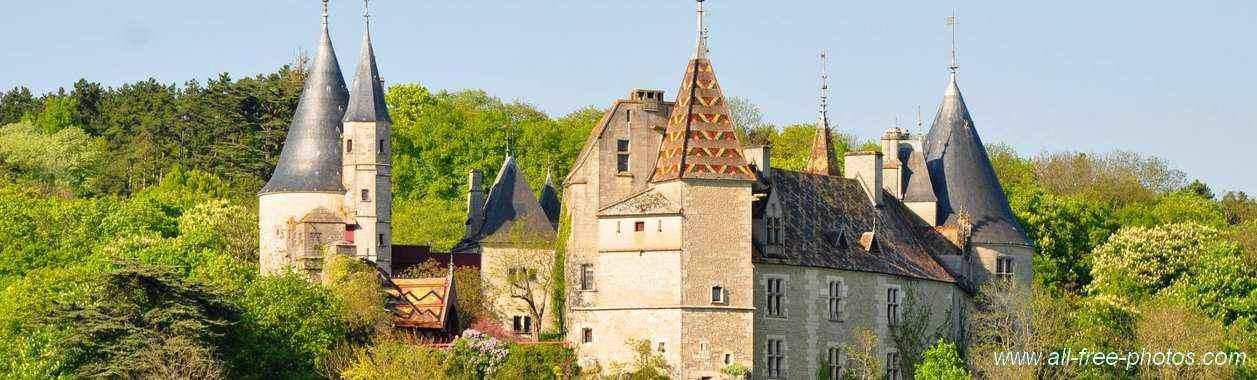Château de la Rochepot - pano