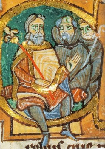 enluminure de la charte de Cluny