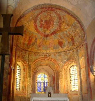 Anzy-le-Duc - Fresques du choeur (site histoire-geographie.ac-dijon.fr)
