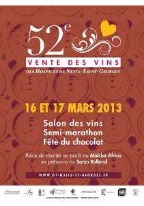 Affiche pour la 52ème vente des vins de Nuits-St-Georges