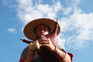 Pascal Minne, joueur de musique antique