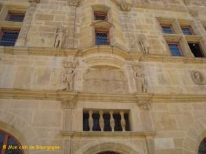 Détail de la façade de la Maison jayet