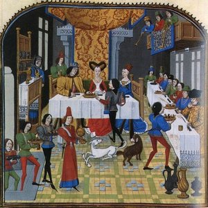 un banquet médiéval