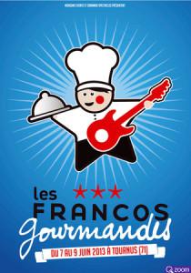 affiche du festival des Francos Gourmandes 2013