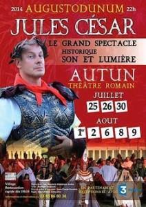"""Affiche du spectacle """"Jules César"""" d'Augustodunum en 2014"""