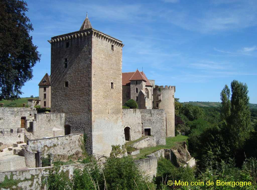 Vue générale du château de Couches