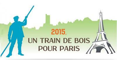 """logo """"Train de bois pour Paris"""""""