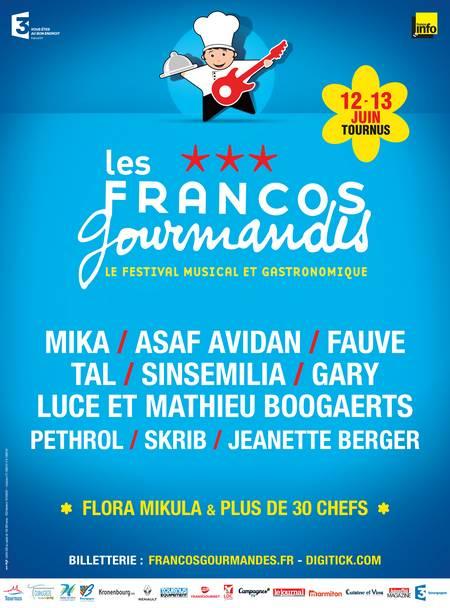affiche Francos Gourmandes 2015