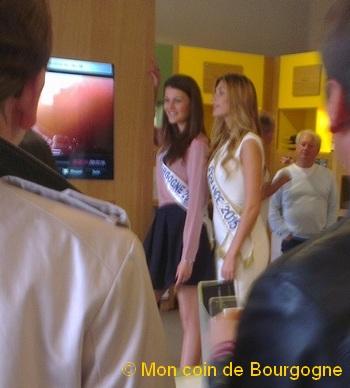 Miss Bourgogne et Miss France à Buxy