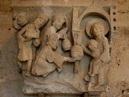 Chapiteau de l'adoration des mages - cathédrale d'Autun