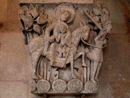 Chapiteau de la fuite en Égypte - cathédrale d'Autun
