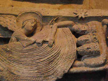 Chapiteau du sommeil des mages - cathédrale d'Autun