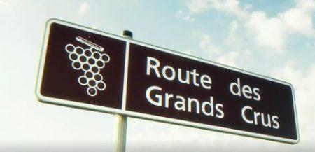 panneau de la route des grands crus