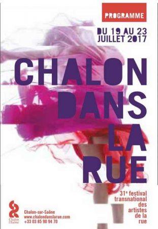 Affiche Chalon dans la rue 2017