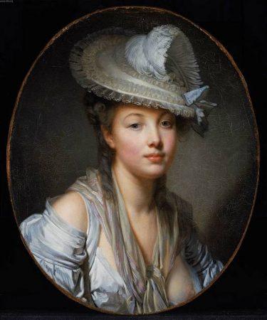 portrait de femme par Jean-Baptiste Greuze