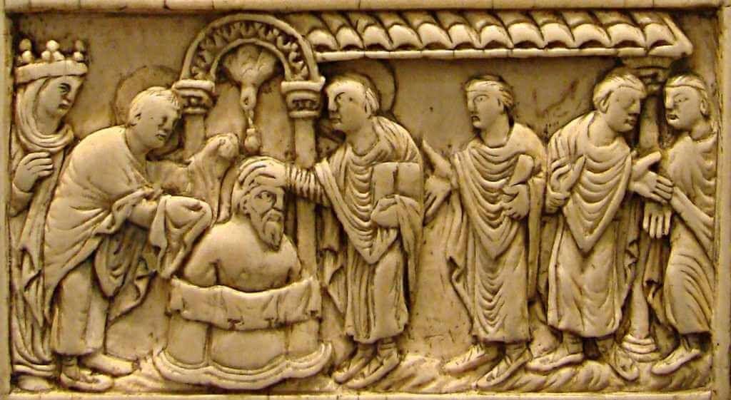 Représentation du Baptême de Clovis