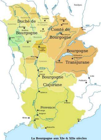 carte de Bourgogne - XIe et XIIe siècles